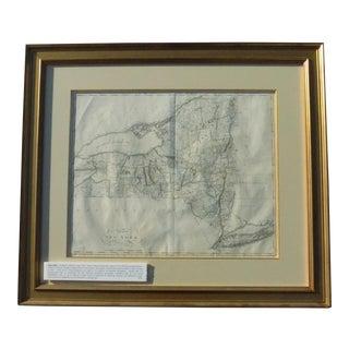 1795 Matthew Carey New York Map Print For Sale