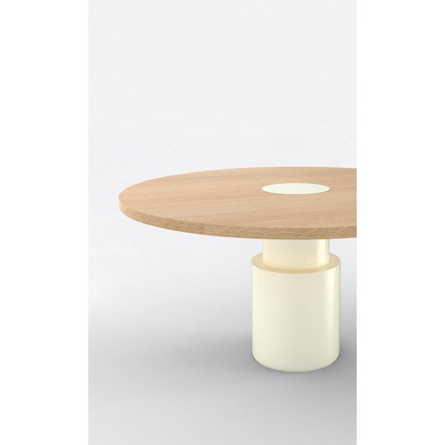Material Lust Contemporary 100 Dining Table in Oak and White by Orphan Work, 2019 For Sale - Image 4 of 6