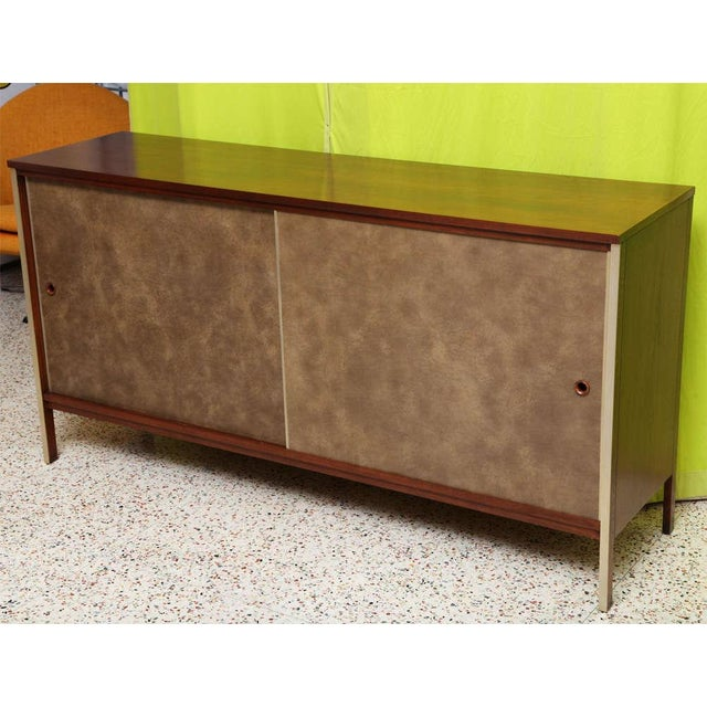 Paul McCobb Calvin Walnut Buffet with Top Cabinet - Image 3 of 8