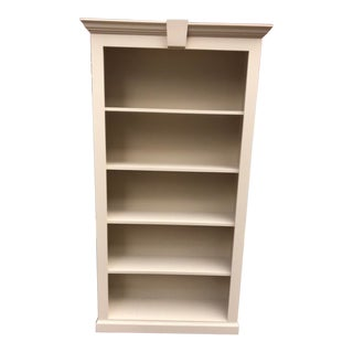 Contemporary Painted Tan Bookshelf For Sale
