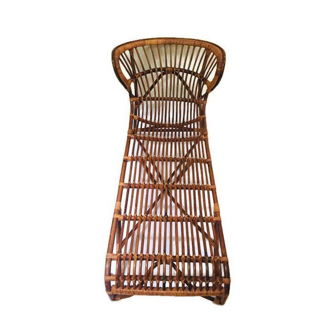 Mid Century Modern Franco Albini Chaise Lounge Sculpted Bamboo Daybed For Sale In Richmond - Image 6 of 12
