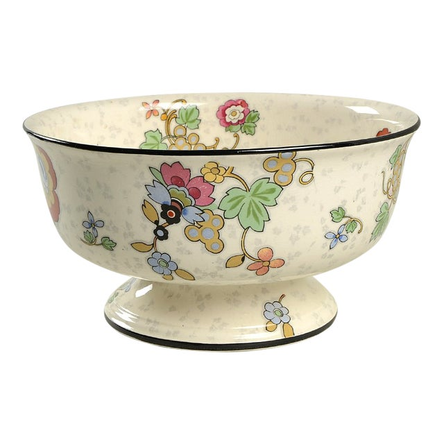 Crown Ducal Beaumont Footed Bowl For Sale