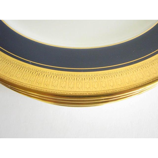 Metal Vintage Noritake Cobalt and Gold Encrusted Band Tea Set - 21 Pieces For Sale - Image 7 of 13
