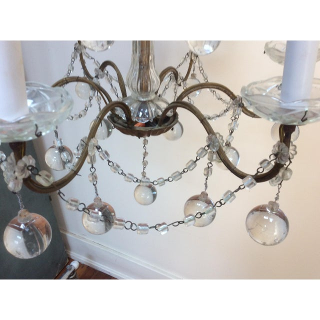 1960s Clear Murano glass drop Chandelier For Sale - Image 5 of 6