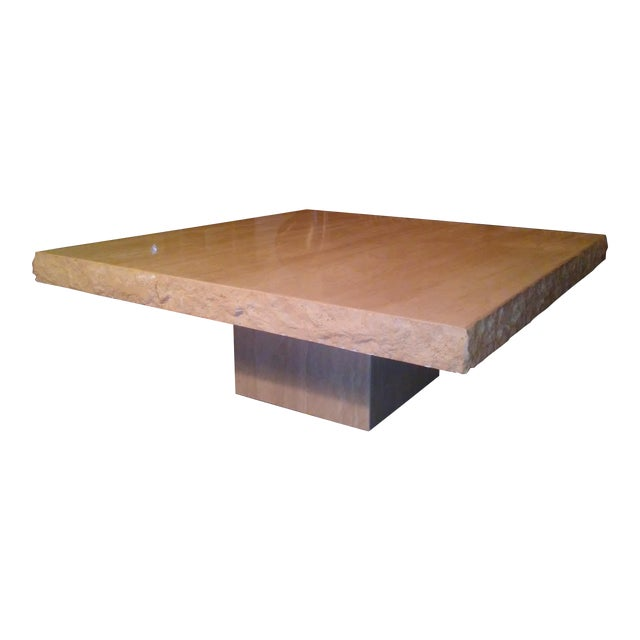 Italian Travertine Coffee Table - Image 1 of 4