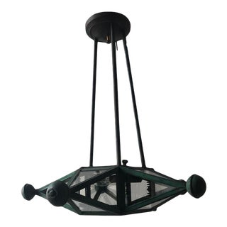 Early 20th Century Exterior Victorian Star Shaped Light Fixture For Sale