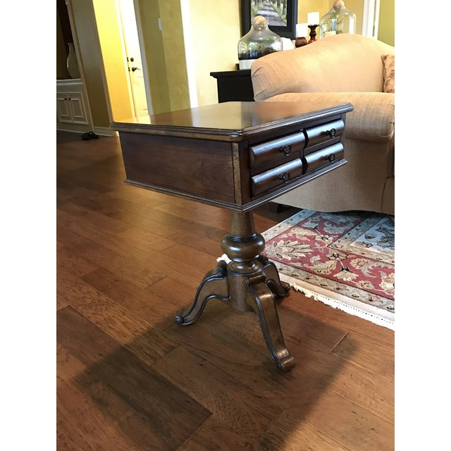 Bassett Hardwood End Table With Drawer