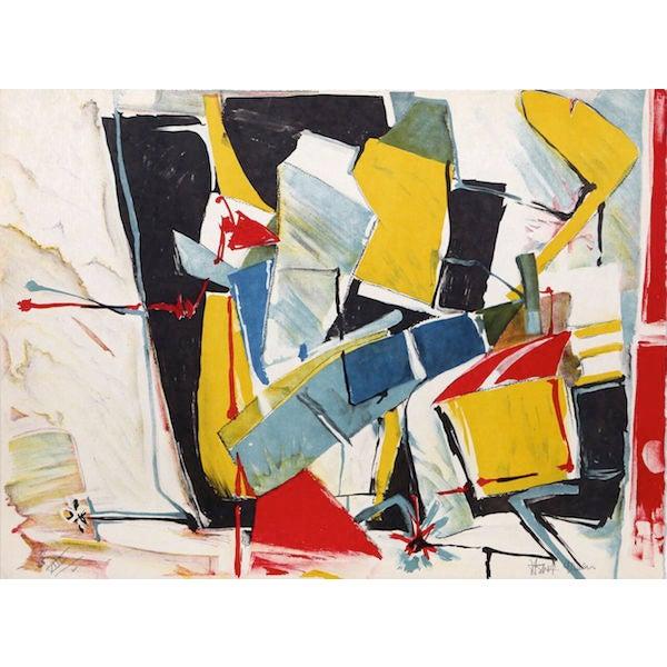 "Jasha Green, ""Untitled 9,"" Lithograph - Image 1 of 2"