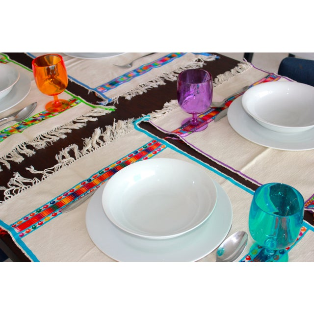 Hand Embroidered Multicolor Placemats - Set of 6 - Image 5 of 7