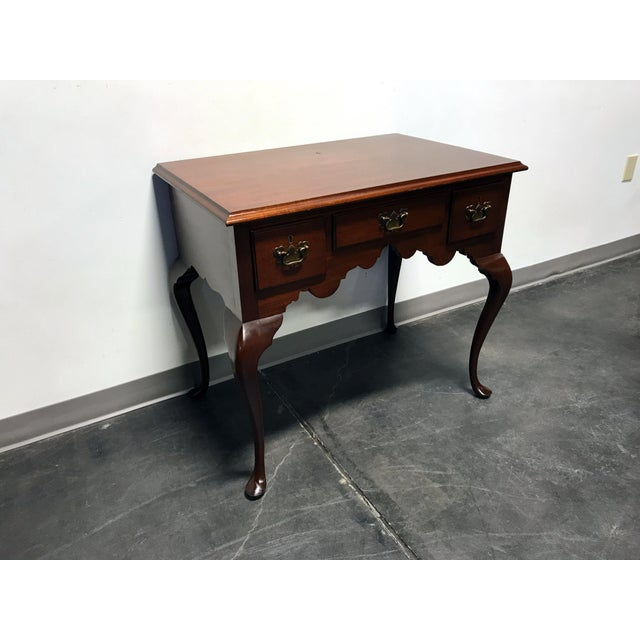 BIGGS Mahogany Queen Anne Low Boy Dresser Chest - Image 11 of 11