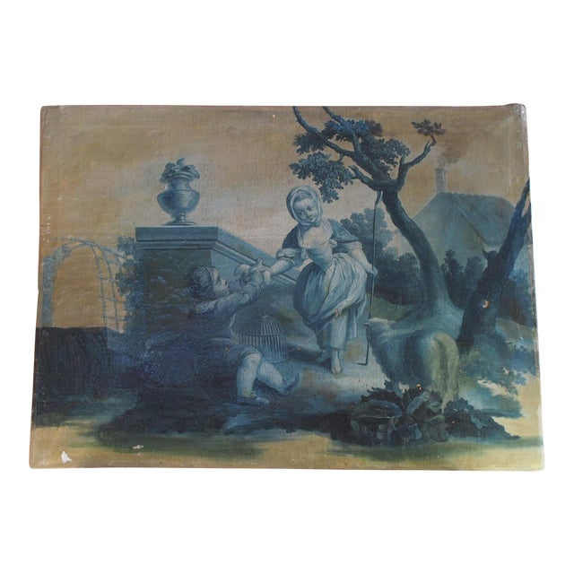18th Century French Grisaille Painting - Image 1 of 8