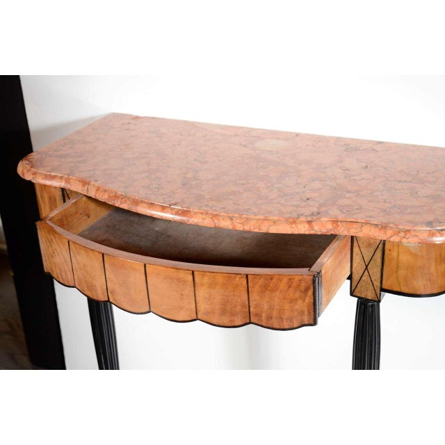 Green Art Deco Exotic Marble Top Console Table For Sale - Image 8 of 9