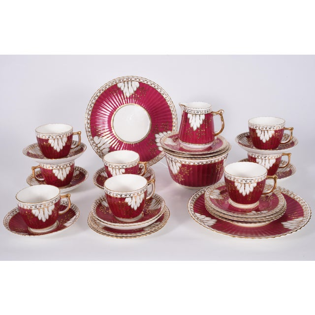 Vintage English Porcelain Luncheon Service - 27 Pc. Set For Sale - Image 4 of 13