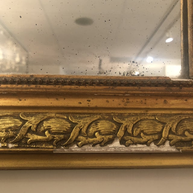 Louis Phillipe Gold Mirror For Sale - Image 4 of 11
