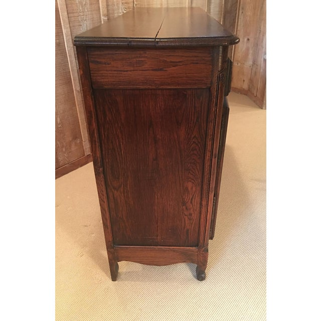 French Louis XV Style Carved Oak and Walnut Sideboard For Sale In Kansas City - Image 6 of 11