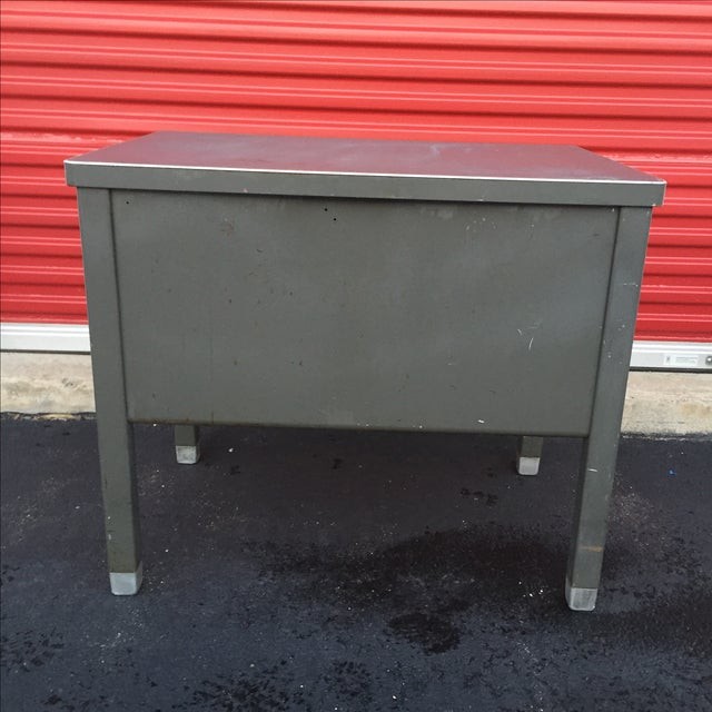 Industrial Age Desk With Drawer by Art Steel For Sale - Image 10 of 11