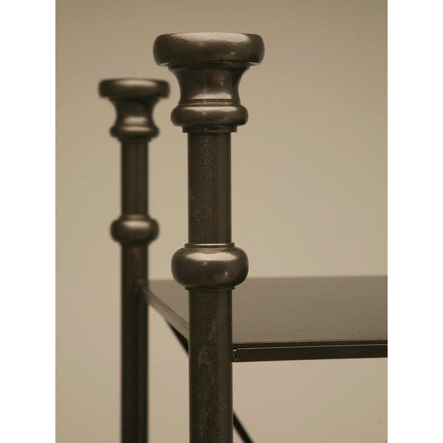 2010s Industrial Style Etagere in Steel and Bronze For Sale - Image 5 of 10