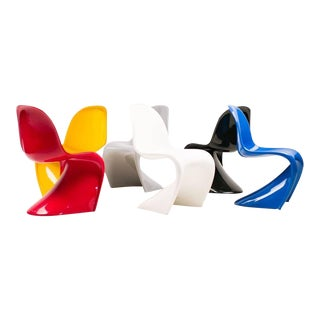 Set of Six Panton Chairs, Primary Colors For Sale