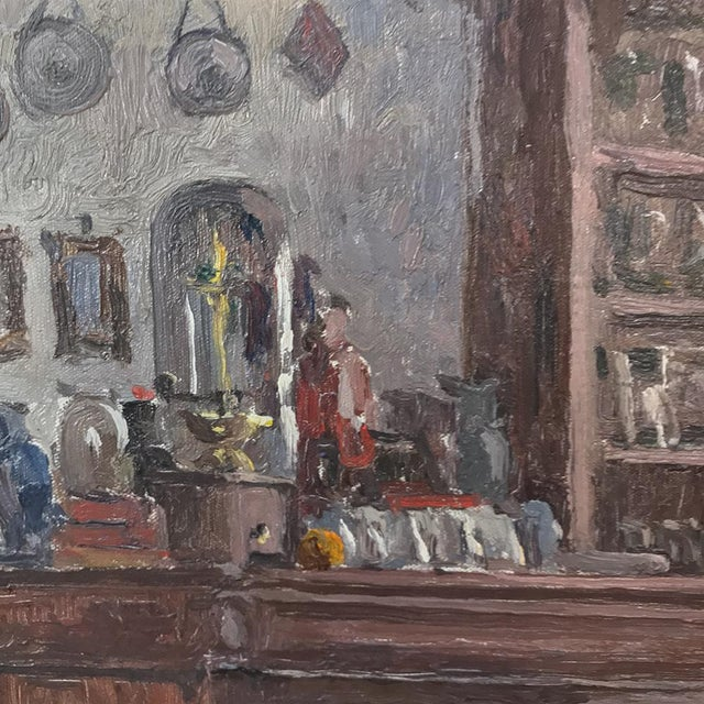 Antique Framed Oil Painting on Canvas by Victor Waegemaeckers For Sale In Dallas - Image 6 of 12
