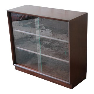 Robsjohn-Gibbings for Widdicomb Mid-Century Modern Glass Front Bookcase For Sale