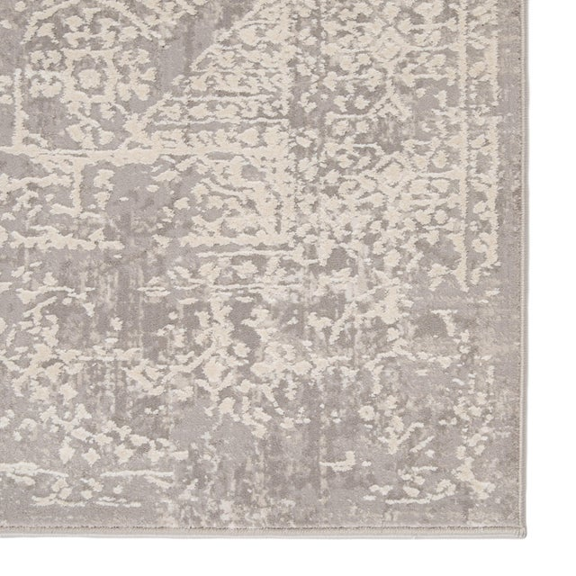 Jaipur Living Lianna Abstract Gray White Round Area Rug 6'X6' For Sale - Image 4 of 10