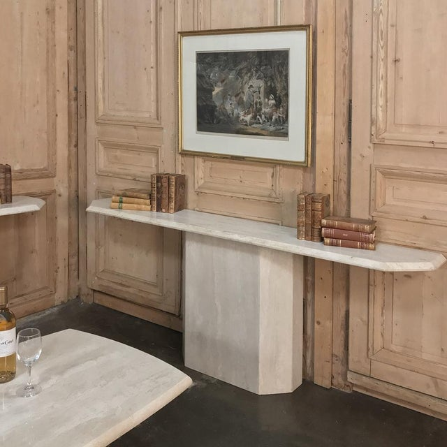 Mid-Century Modern Mid-Century Limestone ~ Travertine Console For Sale - Image 3 of 12