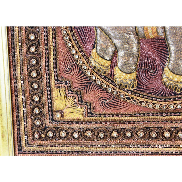 Brown Pasargad DC Hand Made India Beaded Elephant Raised Wall Art - A Pair For Sale - Image 8 of 11