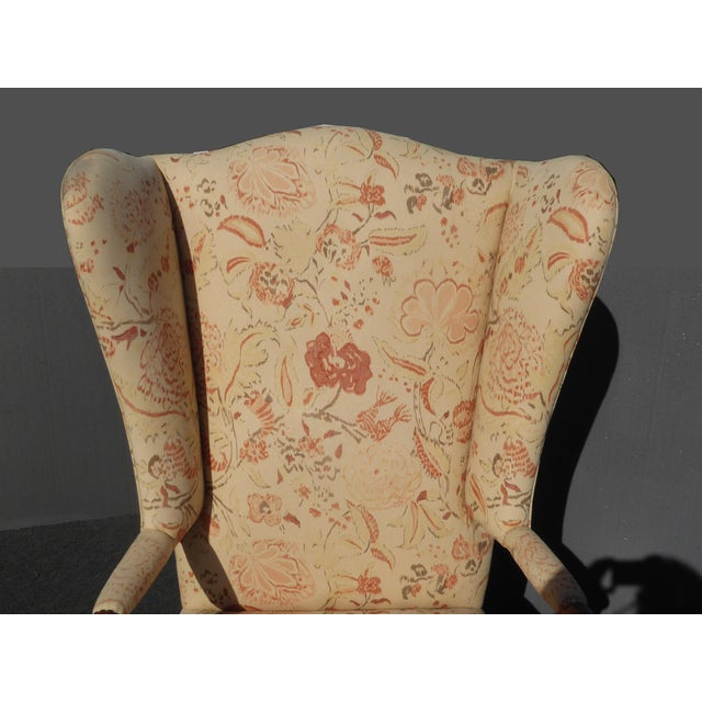 Image Of Cha51 Accent Chair: Unique Vintage French Country Floral Throne Wingback