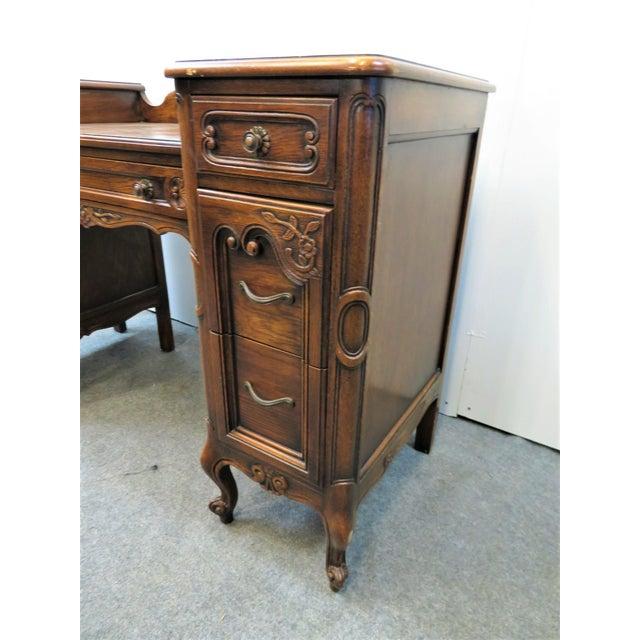 Louis XV Style Carved Oak Vanity For Sale In Philadelphia - Image 6 of 11