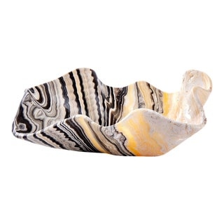 Tiger Striped Clam Onyx Bowl For Sale