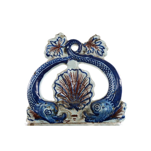 19th Century Antique Wall Pocket Enamel Fountain For Sale - Image 9 of 9