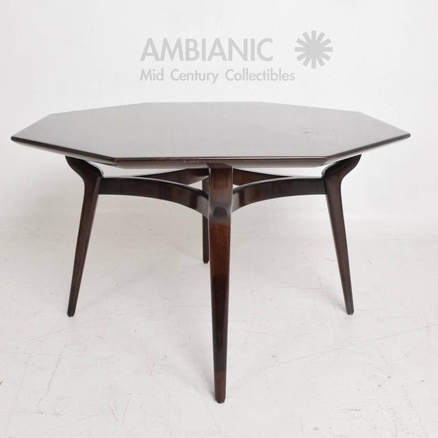 Incredible Monteverdi And Young Walnut Dining Or Office Table - Octagon shaped dining table