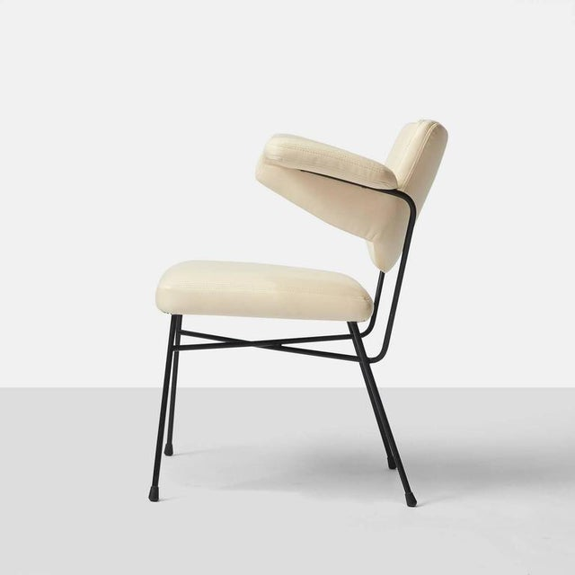 """Urania"" Chair by BBPR for Arflex A Urania desk or side chair by BBPR for Arflex. Restored in a faux ivory leather with..."