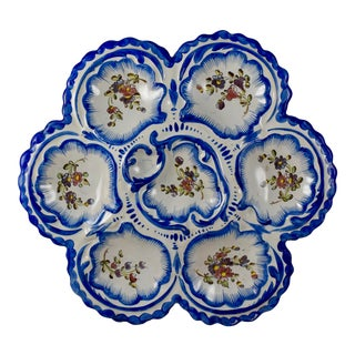 19th C. Angoulême French Faïence , Alfred Renoleau Oyster Plate, A. For Sale