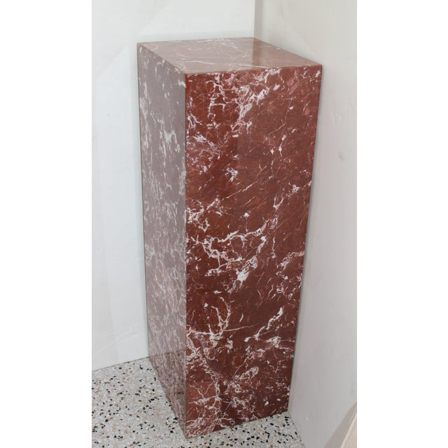 Late 20th Century Rouge Marble Pedestal For Sale - Image 5 of 11