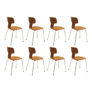 1960s Vintage Fritz Hansen for Arne Jacobsen Chairs- Set of 8 For Sale