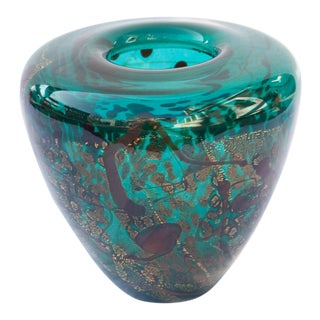 1990s Art Glass Vase by Michael Nourot For Sale