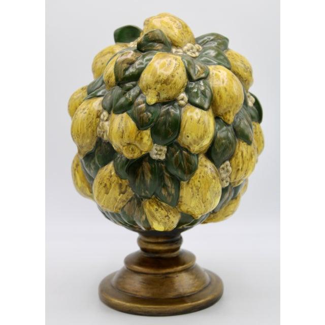 Vintage Italian Floral Lemon Tree / Topiary For Sale - Image 13 of 13