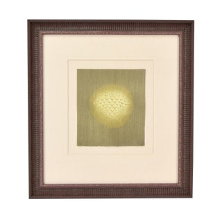 1980s Arthur Luiz Piza Abstract Orb Intaglio Limited Edition Signed Etching Print For Sale