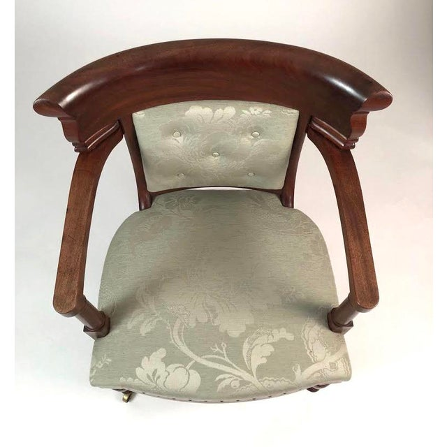 Brown 19th Century French Empire Neoclassical Armchair For Sale - Image 8 of 11