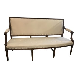 Late 18th Century Louis XVI Settee For Sale