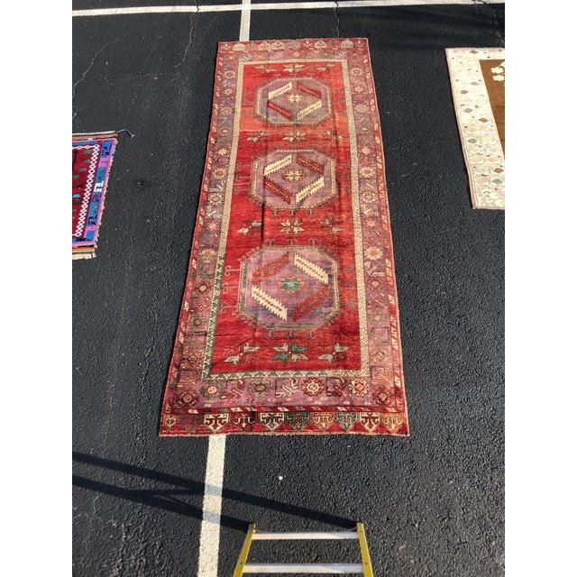 """Vintage Turkish Oushak Runner - 5' X 13'3"""" For Sale - Image 13 of 13"""