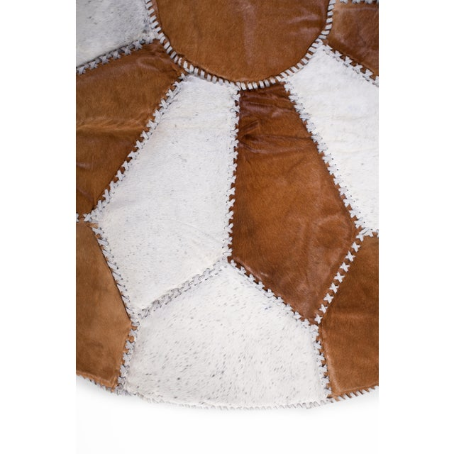 """Cowhide Patchwork Area Rug - 5'9"""" x 5'9"""" - Image 3 of 10"""