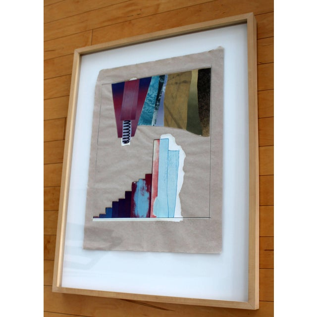 Mid-Century Modern Mid-Century Modern Rauschenberg Signed Abstract Print Dated 1970s Numbered For Sale - Image 3 of 7