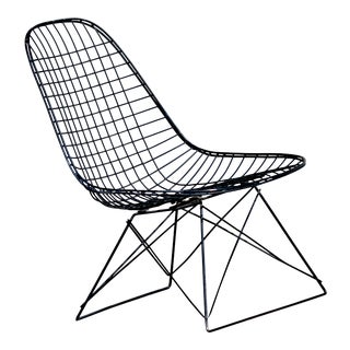 Early Pat Pending 1950's Herman Miller Charles Eames Lkr Cat's Cradle Wire Lounge Chair For Sale