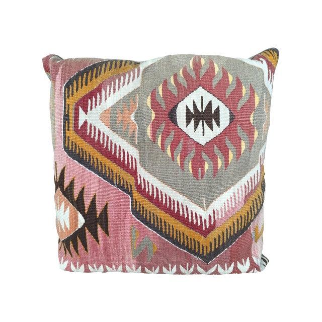 Traditional Turkish Kilim Pillow - Image 1 of 4