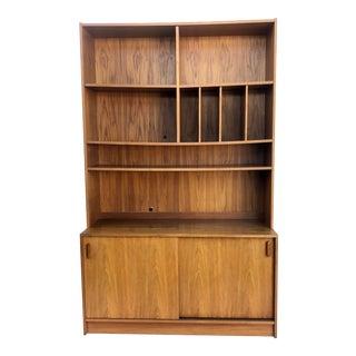 Late 20th Century Vintage Teak Bookshelf Cabinet For Sale