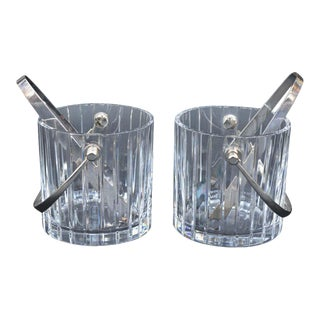 1990s Baccarat Crystal Ice Buckets - a Pair For Sale