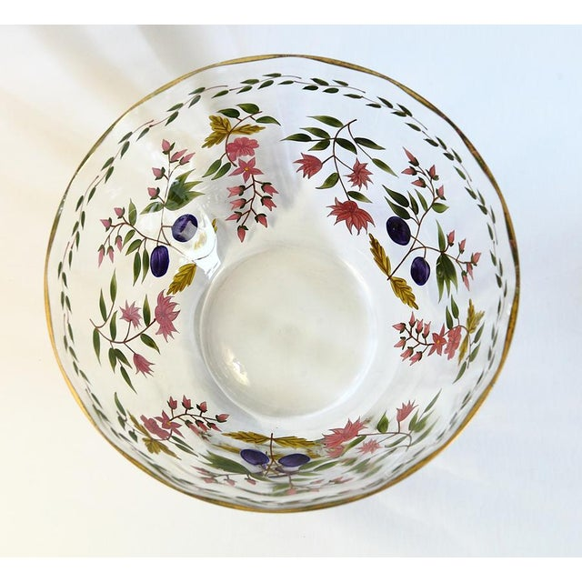 Vintage Hand Painted Glass Bowl - Image 7 of 8