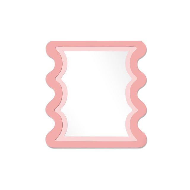 Contemporary Fleur Home x Chairish Carnival Mystic Rectangle Mirror in Pink Punch, 24x36 For Sale - Image 3 of 3
